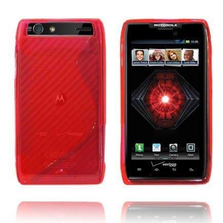 Läpikuultava S-Line Punainen Motorola Razr Suojakuori
