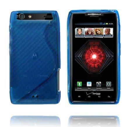Läpikuultava S-Line Sininen Motorola Droid Razr Maxx Suojakuori