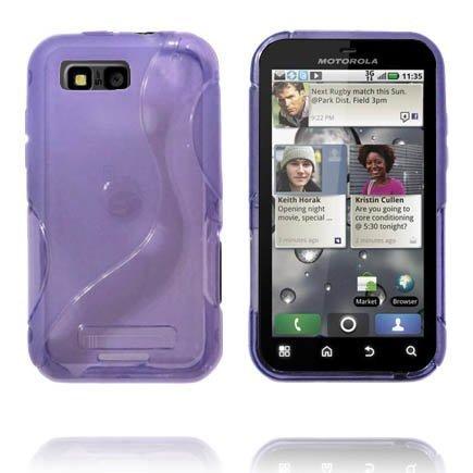 Läpikuultava S-Line Violetti Motorola Defy + Suojakuori