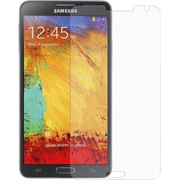 Läpinäkyvä suojakalvo Samsung Galaxy Note 3 muk. puhdistusliina 1
