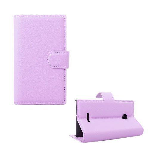 Lönnrot Microsoft Lumia 435 Nahkakotelo Korttitaskuilla Pink