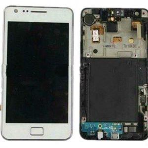 LCD-näyttö + kosketuspaneeli Samsung Galaxy S2 GT-i9100 Valkoinen