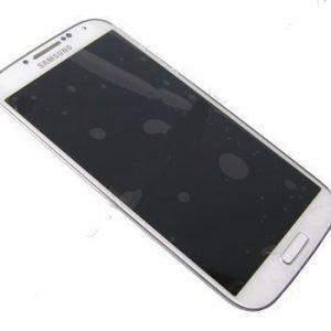 LCD-näyttö + kosketuspaneeli Samsung Galaxy S4 Plus LTE Gt-I9506 Valkoinen