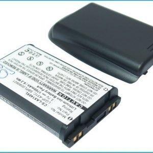 LG AX140 AX145 UX140 UX145 Tehoakku Laajennetulla mustalla takakannella 1700 mAh