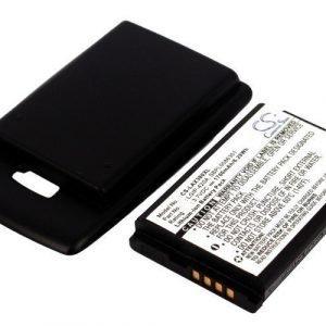 LG AX380 Tehoakku Laajennetulla mustalla takakannella 1700 mAh
