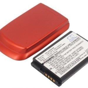 LG AX500 UX500 Tehoakku Laajennetulla punaisella takakannella 1700 mAh