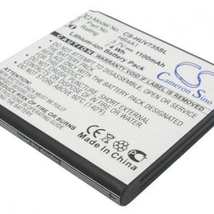 LG AX565 UX565 LX570 Muziq Tehoakku Laajennetulla mustalla takakannella 1500 mAh