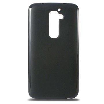 LG G2 Ksix Flex TPU Kotelo Musta