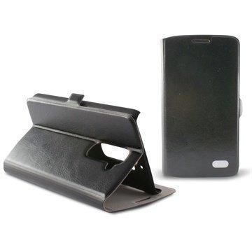 LG G2 Ksix Folio Nahkakotelo Musta