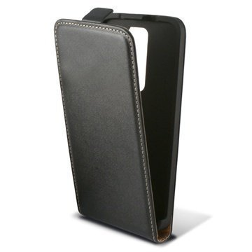 LG G2 Ksix Pystysuuntainen Nahkainen Läppäkotelo Musta