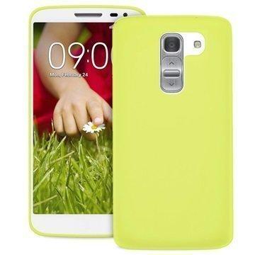 LG G2 Mini G2 Mini LTE Puro 0.3 Ultra Slim Silikonikotelo Limenvihreä