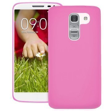 LG G2 Mini G2 Mini LTE Puro 0.3 Ultra Slim Silikonikotelo Pinkki