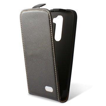 LG G2 Mini LG G2 Mini LTE Ksix Pystysuuntainen Nahkainen Läppäkotelo Musta