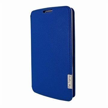 LG G2 Piel Frama Framaslim Nahkakotelo Sininen