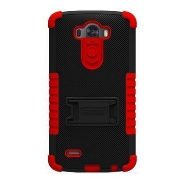 LG G3 Beyond Cell Tri Shield Case Black / Red