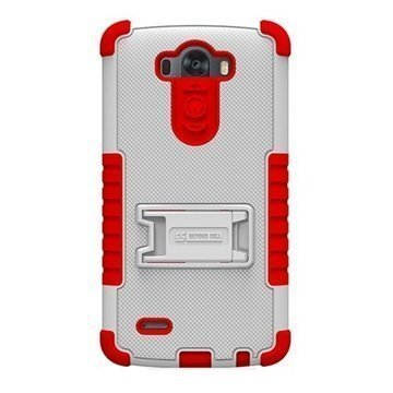 LG G3 Beyond Cell Tri Shield Case White / Red