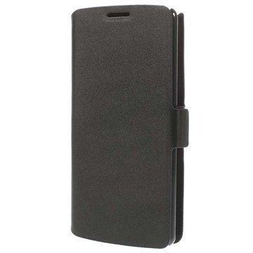 LG G3 Doormoon Wallet Nahkakotelo Musta