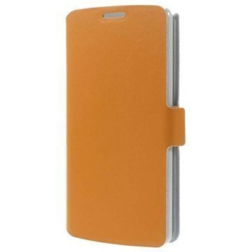 LG G3 Doormoon Wallet Nahkakotelo Oranssi