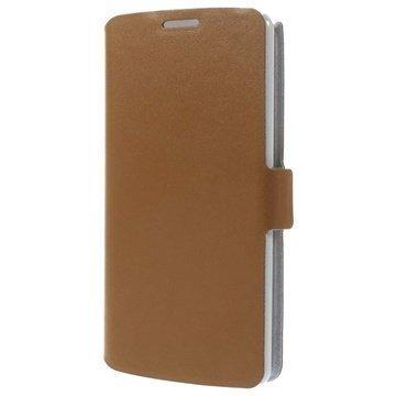 LG G3 Doormoon Wallet Nahkakotelo Ruskea