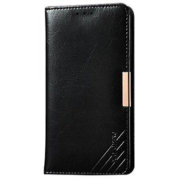 LG G3 Kalaideng Royale II Nahkainen Lompakkokotelo Musta
