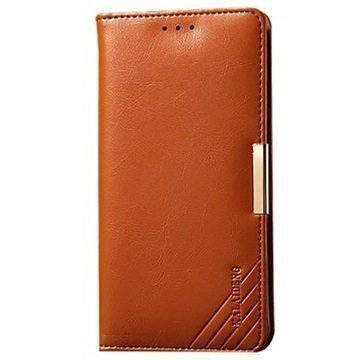 LG G3 Kalaideng Royale II Nahkainen Lompakkokotelo Ruskea