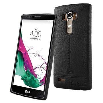 LG G4 Pierre Cardin Nahkapinnoitettu Kotelo Musta
