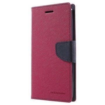 LG G4 Stylus Mercury Goospery Fancy Diary Lompakkokotelo Kuuma Pinkki / Sininen