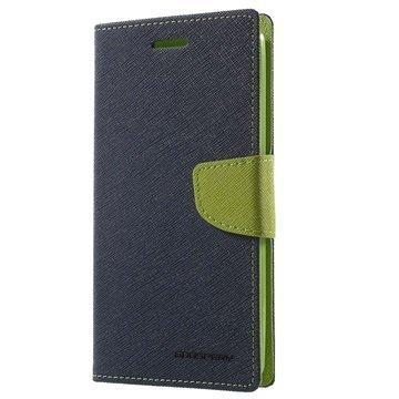 LG G4 Stylus Mercury Goospery Fancy Diary Lompakkokotelo Sininen / Vihreä
