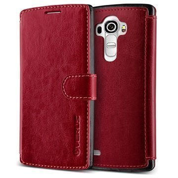 LG G4 Verus Layered Dandy Series Wallet Case Wine Red / Black