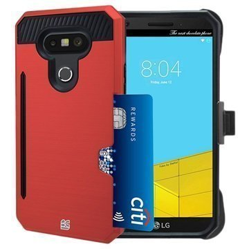 LG G5 Beyond Cell Rugged Kombo Shell Case Red / Black