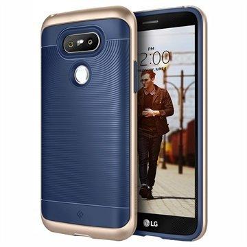 LG G5 Caseology Wavelength Suojakuori Laivastonsininen / Kulta