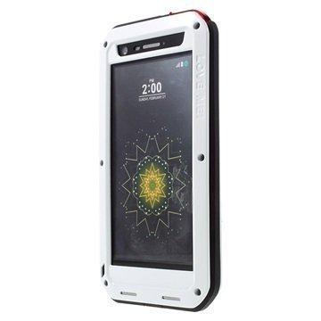 LG G5 Love Mei Powerful Suojakuori Valkoinen