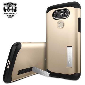 LG G5 Spigen Ohut Panssarikuori Samppanja Kulta