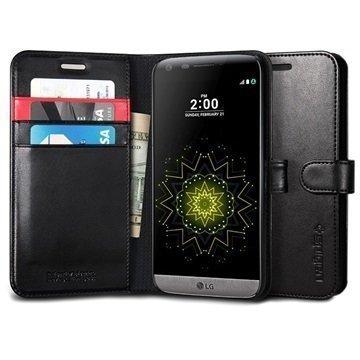 LG G5 Spigen S Lompakkokotelo Musta