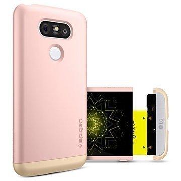 LG G5 Spigen Style Armor Kotelo Ruusukulta