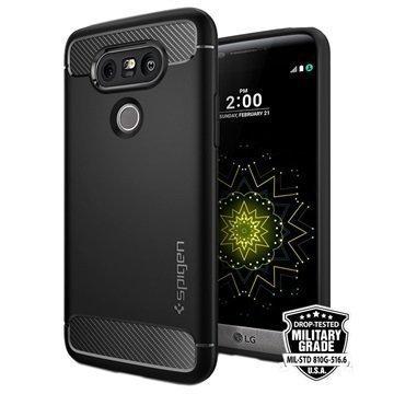 LG G5 Spigen Ultra Rugged Vahvistettu Kapselikuori Musta