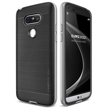 LG G5 VRS Design High Pro Shield -Sarjan Kotelo Vaalea Hopea