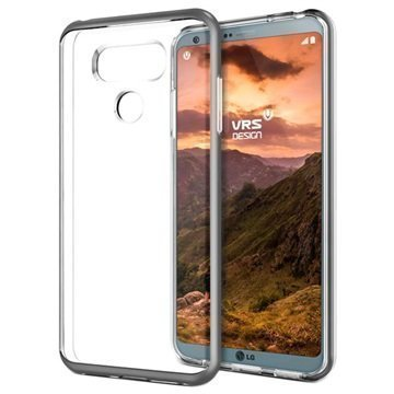 LG G6 VRS Design Crystal Bumper Suojakuori Tummanhopea