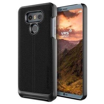 LG G6 VRS Design Simpli Mod Leather Case Black