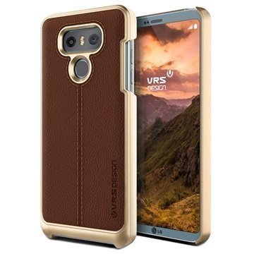 LG G6 VRS Design Simpli Mod Leather Case Brown