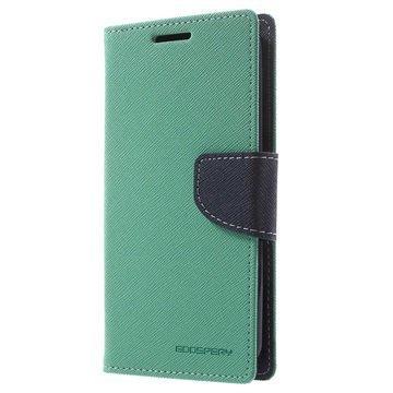 LG K10 Mercury Goospery Fancy Diary Lompakkokotelo Syaani / Tummansininen