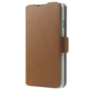 LG L70 D320 D325 Doormoon Wallet Nahkakotelo Ruskea