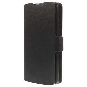 LG L90 D405 Doormoon Wallet Nahkakotelo Musta