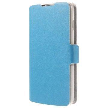 LG L90 D405 Doormoon Wallet Nahkakotelo Sininen