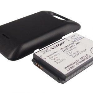 LG MS770 Motion 4G Tehoakku Laajennetulla mustalla takakannella 2400 mAh