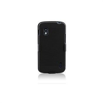 LG Nexus 4 E960 Naztech DoubleUp Suojakotelo Musta