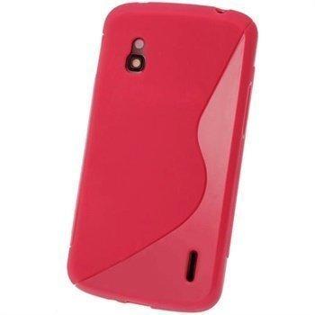 LG Nexus 4 E960 iGadgitz Kaksisävyinen TPU-Suojakotelo Punainen