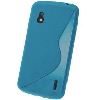 LG Nexus 4 E960 iGadgitz Kaksisävyinen TPU-Suojakotelo Sininen