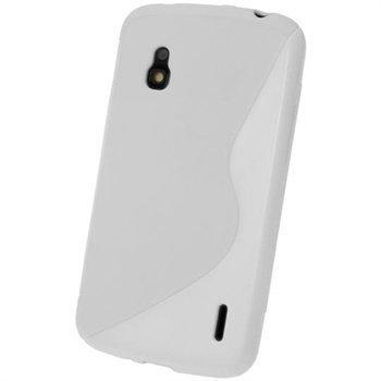 LG Nexus 4 E960 iGadgitz Kaksisävyinen TPU-Suojakotelo Valkoinen