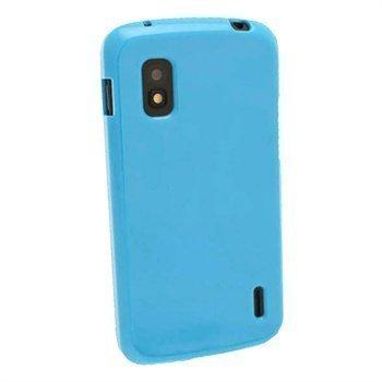 LG Nexus 4G E960 iGadgitz Kiiltävä TPU-Suojakotelo Sininen